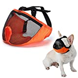 Dog Muzzle for Barking for Short Snout Pitbulls Dog Anti Biting Chewing Eating (Orange)