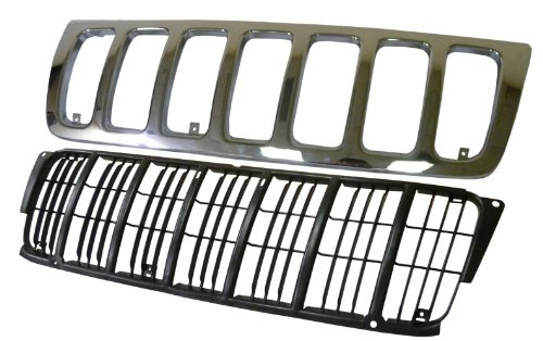 Jeep Grand Cherokee 99-04 Front Grille Car W/Inner Front Grille Car Laredo ()