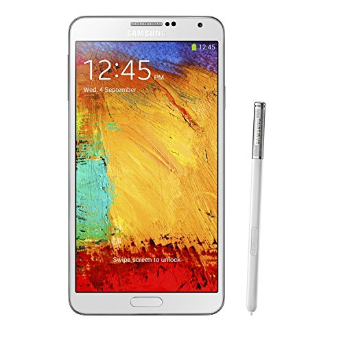 Samsung Galaxy Note 3 4G with 32GB Memory Cell Phone (Unlocked) White N900A WHITE
