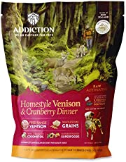 Addiction - Homestyle Venison & Cranberry Dinner - Dehydrated Dog Food, 2 lb