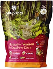 Addiction - Homestyle Venison & Cranberry Dinner - Dehydrated Dog Food,