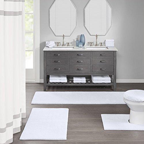 Buy toilet rugs for bathroom u shaped white