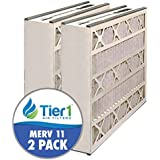 Air Bear AB-51625-11 16x25x5 Merv 11 Replacement AC Furnace Air Filter (2 Pack)