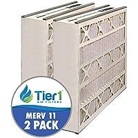 Air Bear AB-51625-11 16x25x5 Merv 11 Replacement AC Furnace Air Filter (2 Pack)