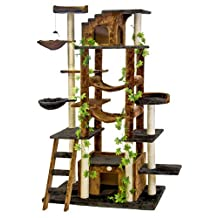 Go Pet Club F2090 77-Inch  Cat Tree Condo Furniture, Brown/Black