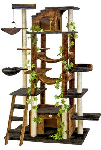 Go Pet Club 77-Inch Cat Tree, Brown/Black