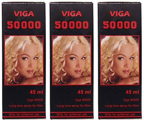 3 X Viga 50000 (Delay Spray for Men) with Vitamin E - Expedited International Delivery - PLUS LOVE POTION PEN