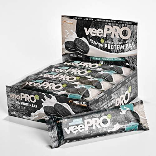 [Gesponsert]Vegane Proteinriegel veePRO | 20g Eiweiß, 27% Ballaststoffe | Low Carb Eiweißriegel | Gesunder & leckerer Snack...