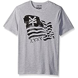 Zoo York Men's Short Sleeve Patriotic Tee, Anthem Grey Heather, Medium