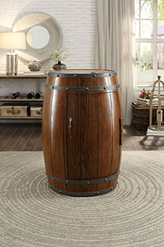 Capella Industrial Barrel Wine Refrigerator in Dark Oak