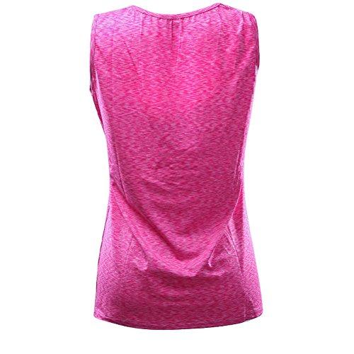 Top Senza Abbigliamento Allattamento Maniche Donna Canottiere Vest Rosa Traspirante Inlfen PwH81nqA8