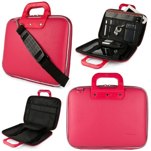 SumacLife Cady Toshiba Satelllite & Portege 11.6 to 12.5-inch Laptop and Tablet Briefcase Bag (Pink) Qxj8gg1E