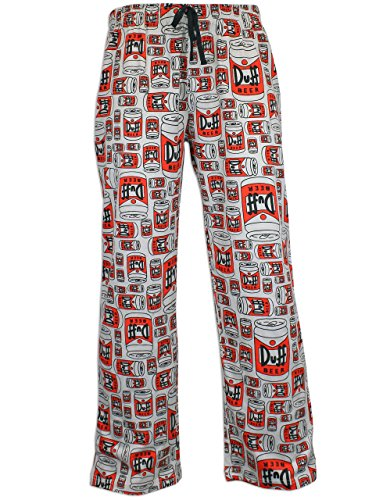 The Simpsons Mens Duff Beer Lounge Pants Size Medium