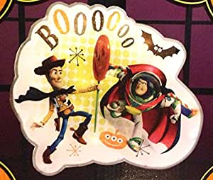 TOY STORY Lighted Halloween Decoration WOODY & BUZZ LIGHTYEAR Window Glitter Glow Sculpture (14 Inches Wide)