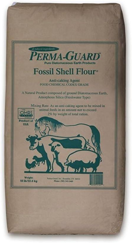 Permaguard Fresh Water Food Grade Diatomaceous Earth, 50-Pound, White