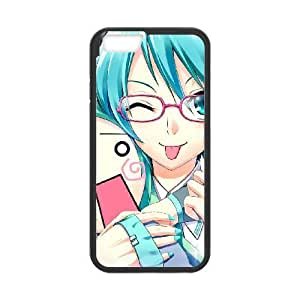 Hatsune Miku 011 funda iPhone de plástico 6 Plus 5.5 pulgadas del teléfono celular de funda funda caja del teléfono celular negro cubre ALILIZHIA08347