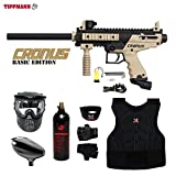 MAddog Tippmann Cronus Beginner Protective CO2 Paintball Gun Package – Black/Tan