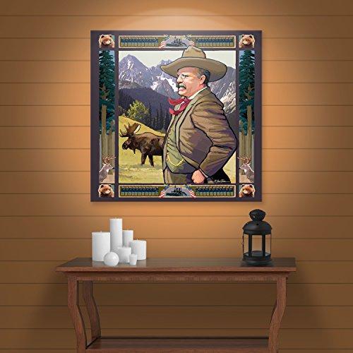 ArtWall Teddy Roosevelt Gallery Wrapped Canvas Art by Rick Kersten, 24 by 24-Inch