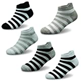 Boys Cotton Socks Kids Summer Breathable Short Socks 5 Pack 6-8 Years