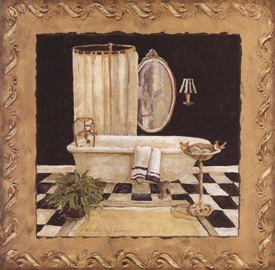 Maison Bath I by Charlene Winter Olson - 12x12 Inches - Art Print Poster
