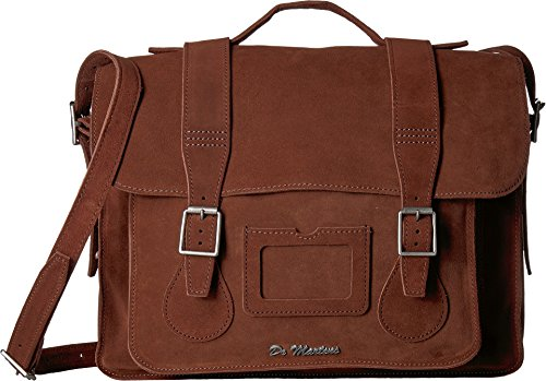 Suede Satchel Dr 15'' Martens Unisex Leather Brown ZRRwxX