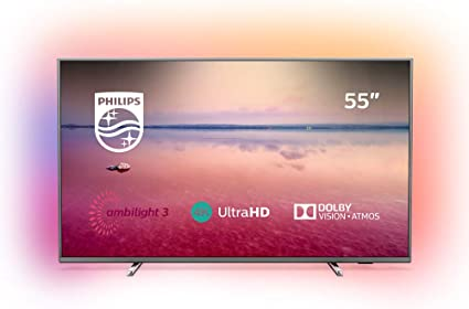 Philips 55PUS6754/12 55-Inch 4K UHD Smart TV with Ambilight, HDR 10+, Dolby Vision, Dolby Atmos - Dark silver (2019/2020 Model) [Energy Class A+]