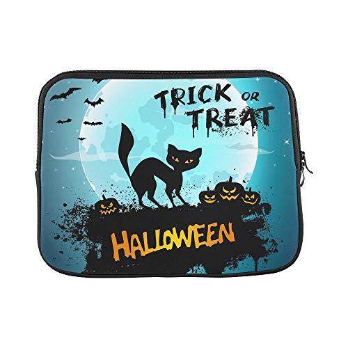 Design Custom Halloween Night Picture Cat Pumpkins Sleeve Soft Laptop Case Bag Pouch Skin for MacBook Air 11