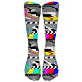 Television Test Cards Patterns Rainbow Athletic Tube Stockings Women's Men's Classics Crew Stockings Socks Sport Long Sock One Size