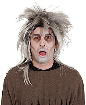 Disfraz Peluca Hombre Zombie Gris
