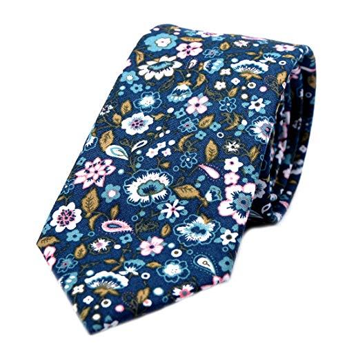 - JESLANG Men's Cotton Printed Floral Tie 2.56