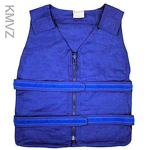 Vest Kool (Lightweight Kool Max® Zipper Front Vest (L/XL, Blue))