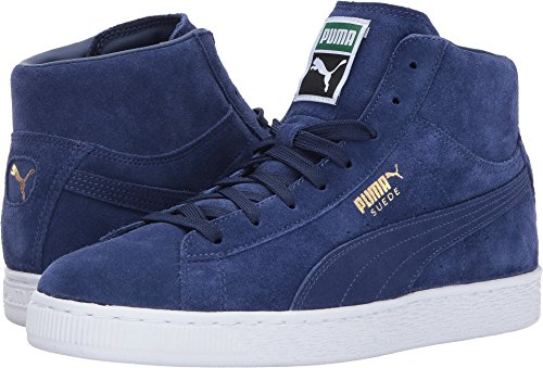 9f5388a7824c Mid sneaker with suede upper featuring gold foil logo and stitched tongue  tag ...