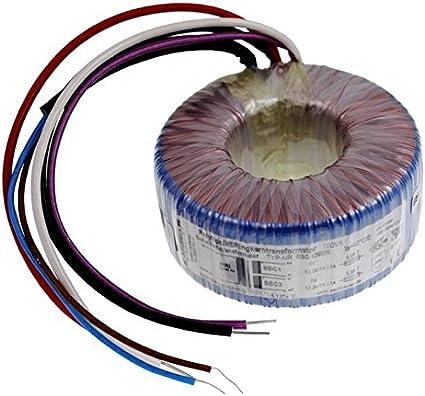 Transformador toroidal 100VA 230V -> 2x24V 1x48V, Sedlbauer. RTO-826029