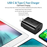 USB C Charger-25W PD Wall Charger Fast Charging for Samsung Galaxy S20/S10 5G /Note 10/Note 10 Plus/Note 20/S9 S8/S10e,iPad Pro 12.9/11,Google Pixel 3a 4 3 2/Pixel 2 XL 3XL 4XL and 3.3 ft Type C Cable