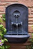 The Napoli - Outdoor Wall Fountain - Slate Grey