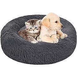 ITODA Haustierbett Donut Hundebett Haustier Bett Flauschig Katzenbett Warm Hundekissen Welpenbett Weich Baumwollbett…