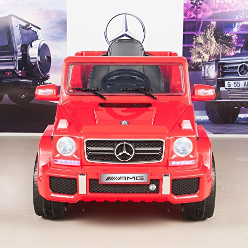 BIG TOYS DIRECT Mercedes Benz G63 12V Battery Power Ride On Car Kids Toy Truck w/ Parent Remote ()