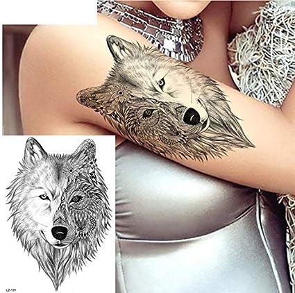ruofengpuzi Adesivo tatuaggioSexy Lobo Negro Indio Femenino ...