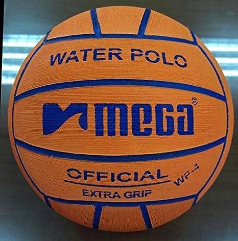 Water Polo Ball. Mega. Color Naranja. Tamaño 4 para Junior y las ...