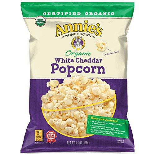 Annie's Organic Popcorn, Gluten Free White Cheddar Popcorn, 4.4 Oz Bag