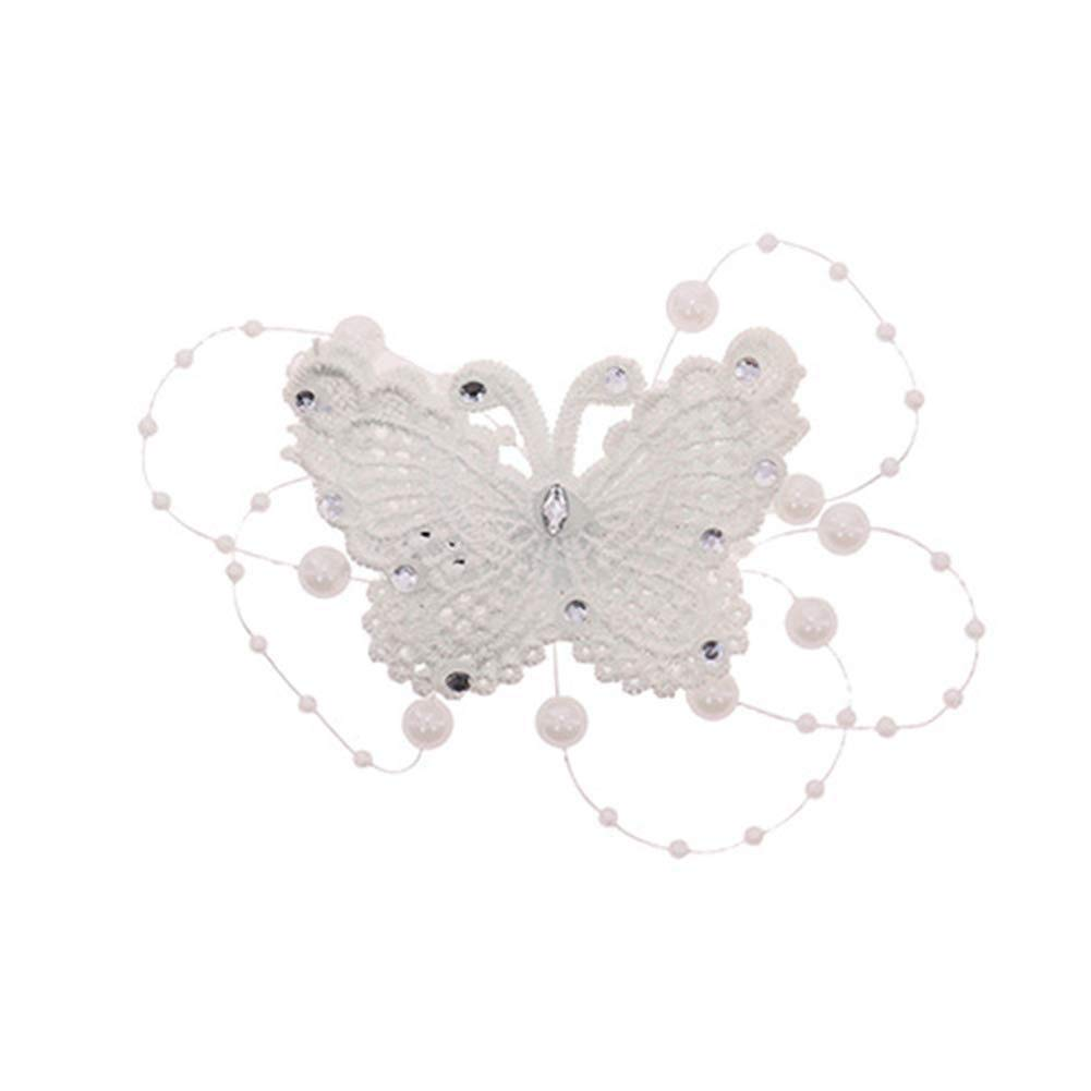 Oldlila 1Pcs Bride Hair Comb Butterfly Pearl Hair Comb Bride Wedding Flower Accessories
