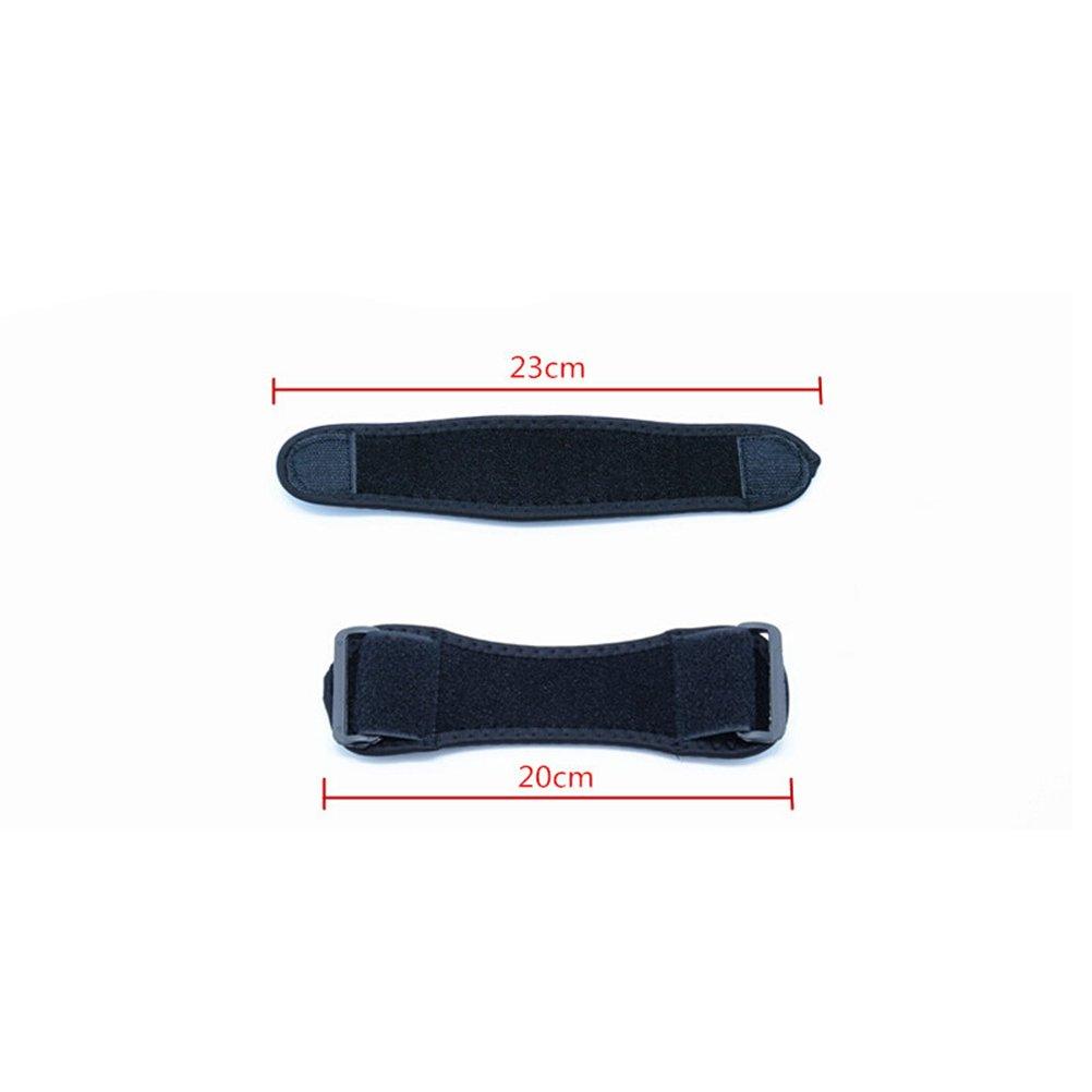 WINOMO 2pcs rodilla correa r/ótula tend/ón banda rodilla rodillera cojines apoyo deportivo negro