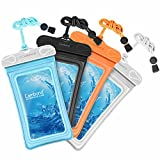 Cambond Waterproof Phone Pouch, Anti-break Lanyard, IPX8, Clear TPU, Fit for iPhone X/8/8P/7/7P, Samsung Galaxy S9/S8/S8P/Note 8, Google Pixel/HTC/LG, Up to 6.0'', Cruise Ship Kayak Accessories, 4 Pack