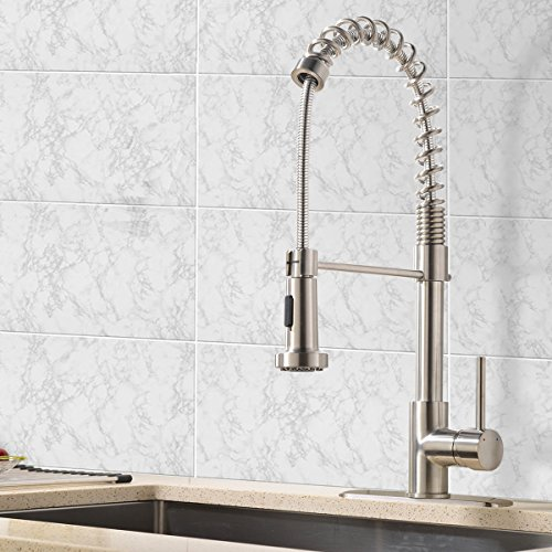 VCCUCINE Modern Pull-Out Kitchen Faucet with Pull Down Sprayer,No Deck Plate Included
