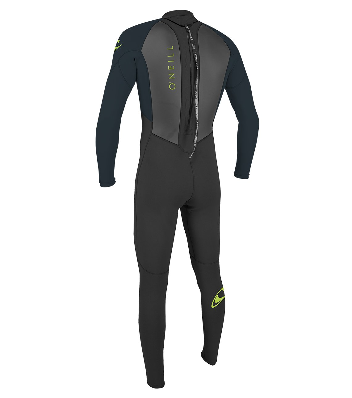 O'Neill Youth Reactor-2 3/2mm Back Zip Full Wetsuit, Black/Slate, 4 by O'Neill Wetsuits (Image #3)