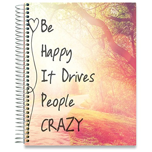 Tools4Wisdom Planner 2019-2020 - Dated July 2019- July 2020-8.5 x 11 Be Happy Planner Hardcover (Best Real Estate Tools 2019)