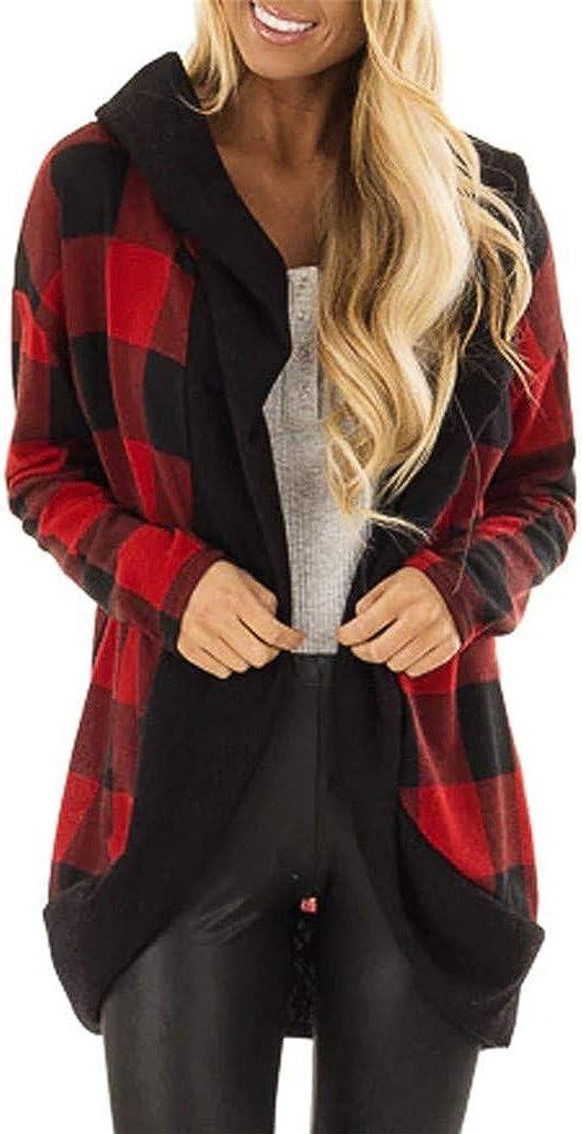 Womens Fashion Lattice Autumn Winter Long Sleeve Bats Sleeves Fashion Long Coat Cloudro ❤️ Ladies Coats