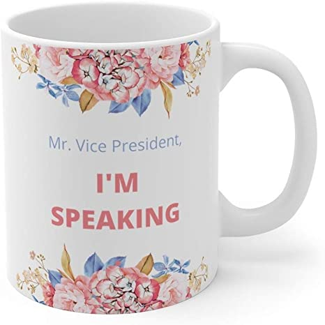 I/'m Speaking Feminist Mug Kamala Harris Presidential Debate Quote Election 2020