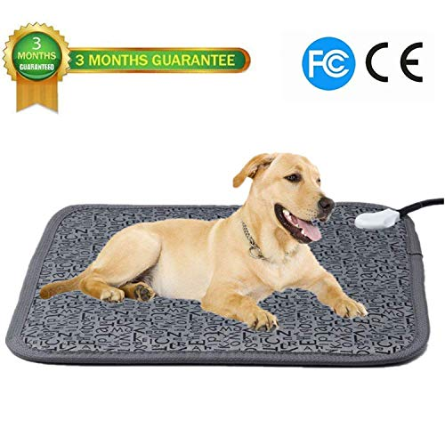 Ubei Pet Electric Heating Pad for Dog and Cat Adjustable Waterproof Anti-bite Steel Cord Dog Large Warm Bed Mat Heated Suitable for Pets Big Deds Pets Blankets and Kennel (28.3