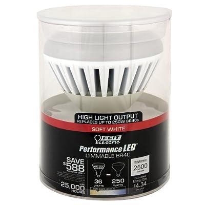 Feit BR40/DM/2500/3K/LED BR40 Dimmable LED, 250W Equivalent, 3000K